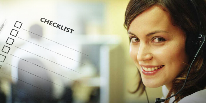 CALL CENTER AGENT CHECKLIST TO MEET THE DESIRE GOALS